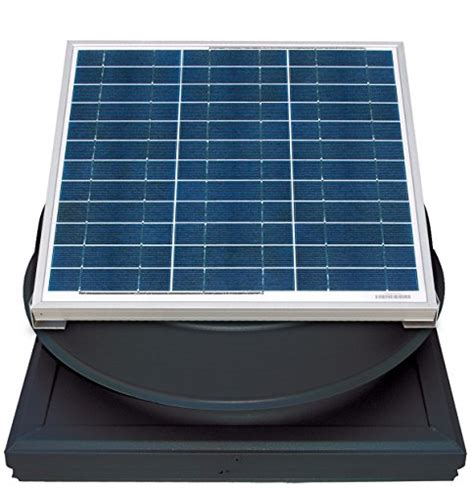 solar attic fan 36 watt natural light 36 watt curb mount solar attic fan black