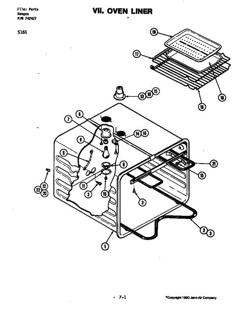 Jenn Air Electric Cooktop Replacement Parts - jenn air electric slide in range top parts model s161