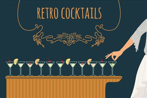 retro cocktail retro cocktails illustrations on creative market