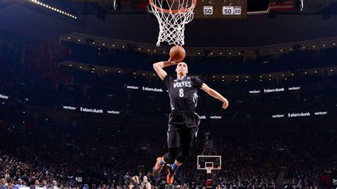 wolves zach lavine   defend title   star dunk