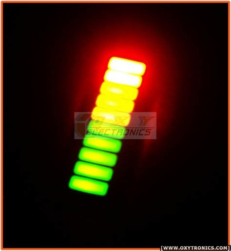 tri color led x2 led bargraph 10 segments tri color fixed led array for