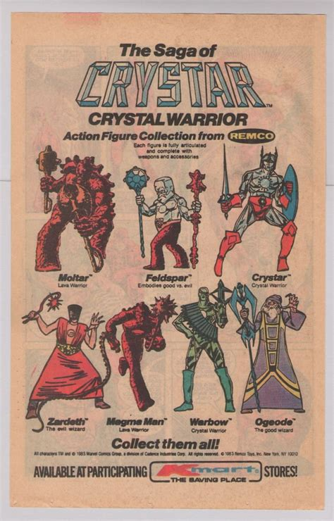 figure ad crystar figures 80s print ad remco toys