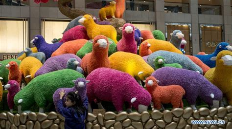 colored sheep colorful sheep displayed in hk 1 chinadaily cn