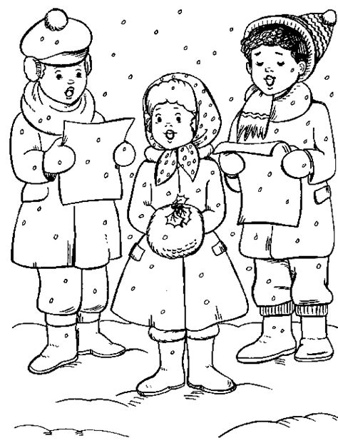 coloring page christmas carolers free victorian seaside scene coloring pages