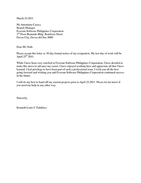 Resignation Letter Sle Format With 30 Days Notice Best Photos Of 1 Day Notice Letter Resignation Sle Resignation Letter Without Notice