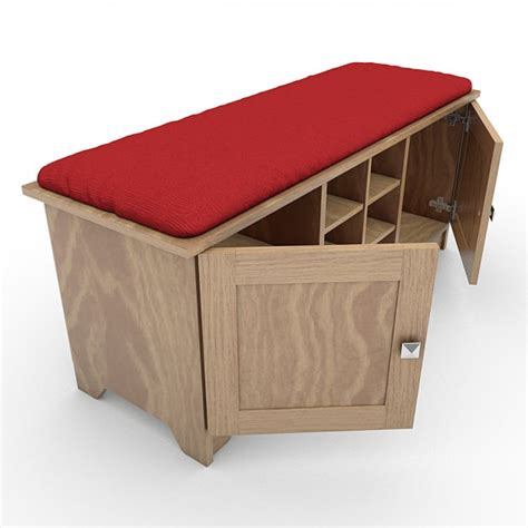 storage bench with cushion storage bench with cushion 03 3d model max obj 3ds lwo