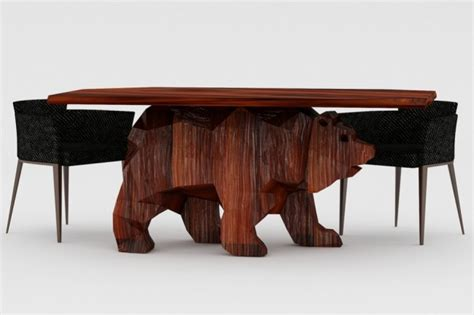 cool table designs unique table with bear shaped base bear table home