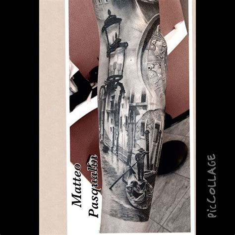 tattoo parlor venice italy venice sleeve close up tattoo artist matteo pasqualin