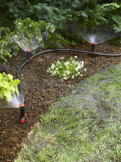 backyard sprinkler system above ground irrigation systems for landscaping diy