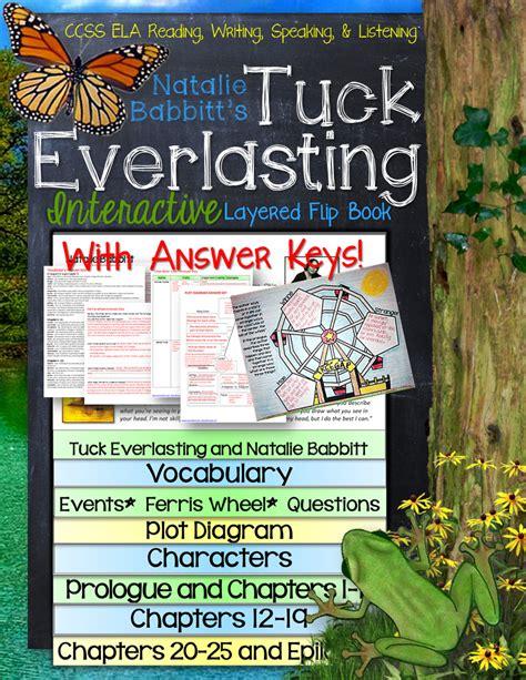 tuck everlasting book report tuck everlasting novel study literature guide flip book