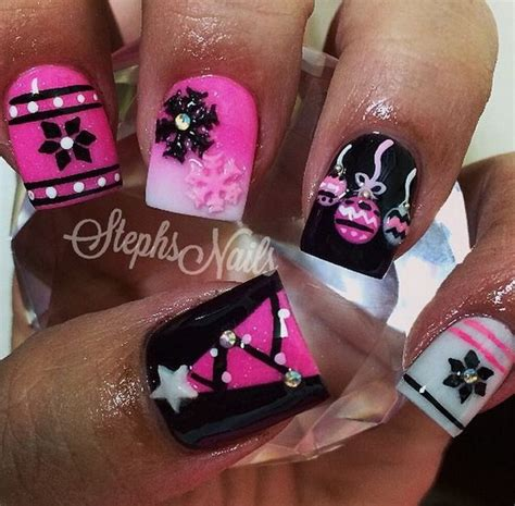 nail styles for woman in her 50s 50 festive christmas nail art designs jewe blog