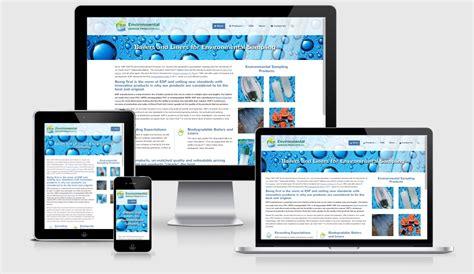 environmental design mockup environmental service products responsive web design