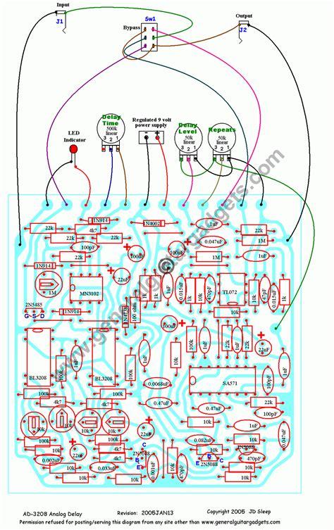 analog delay schematic dd 2 digital delay guitar
