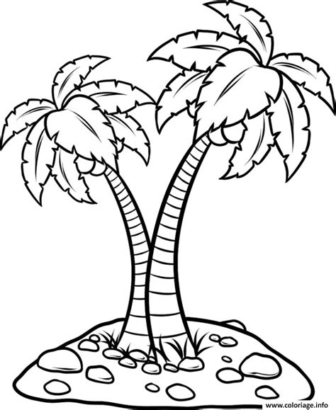 coloring pages of neem tree coloriage palmier facile dessin