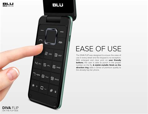 wholesale brand  blu diva flip  black gsm unlocked