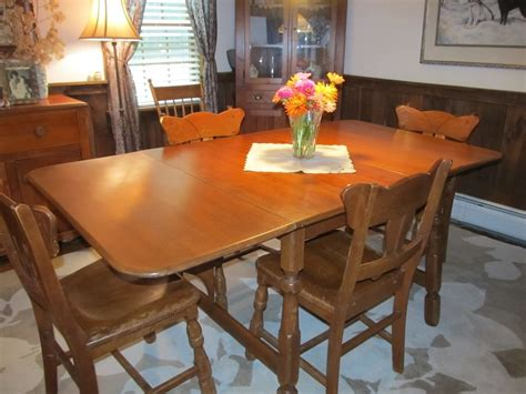 1950 retro dining table and chairs 1950 s vintage temple stuart quot tesco quot solid maple drop leaf