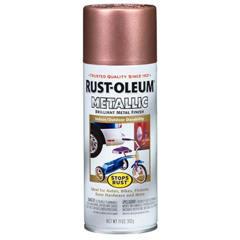 shop rust oleum stops rust copper metallic rust resistant enamel spray paint actual net