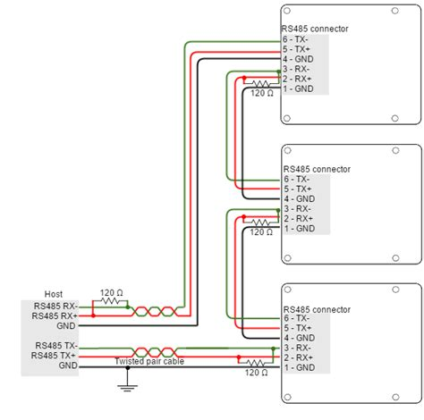 rs485 2 wire connection diagram rs485 2 wire connection