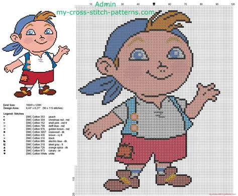 pattern jake pirates cubby from disney jake and the never land pirates free