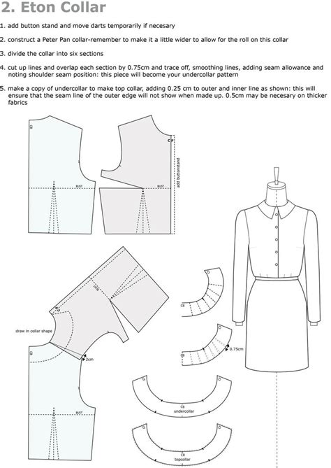 pattern drafting notches pattern cutting collar drafting overlap front and back