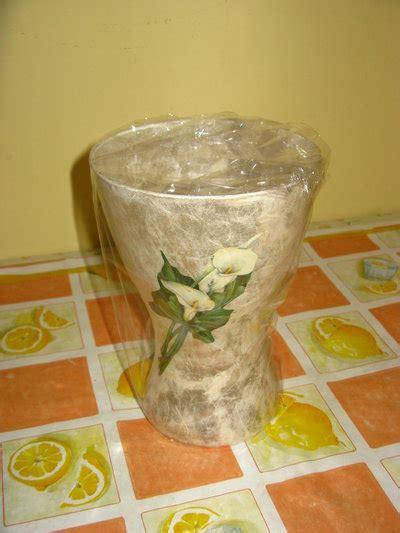 decoupage su vaso di vetro vaso in decoupage di vetro per la casa e per te