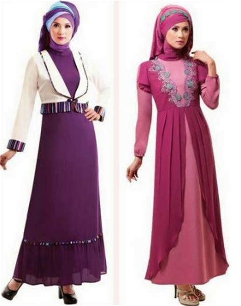 desain gamis tebaru kumpulan contoh baju gamis untuk wanita muslimah yang