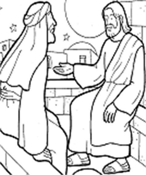 coloring page jesus and nicodemus youthexcel preteen right frame