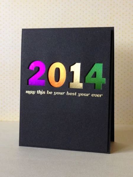 Handmade New Year Cards - handmade new year greeting cards 2016 pink lover