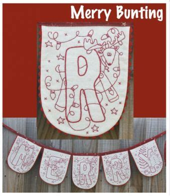 Honeysuckle Patchwork Merry Bunting Merry Bunting Template