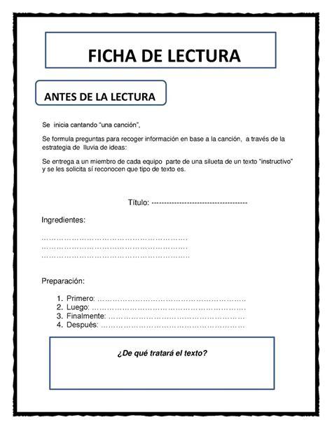 textos instructivos con preguntas de comprension calam 233 o fichas texto instructivo