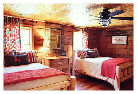 Cabin Bedroom Decorating Ideas by Log Cabin Makeover Traditional Bedroom Other By Jd