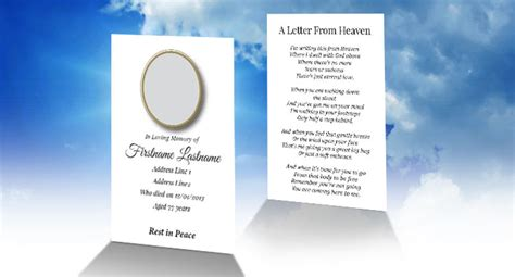 free memorial card template software free wallet memorial card template in indesign format