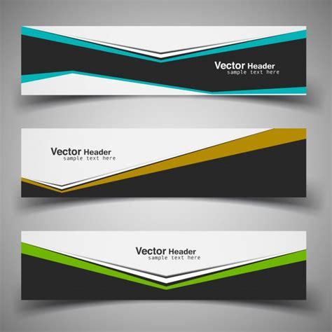 book header design vector modern business banners vector free download
