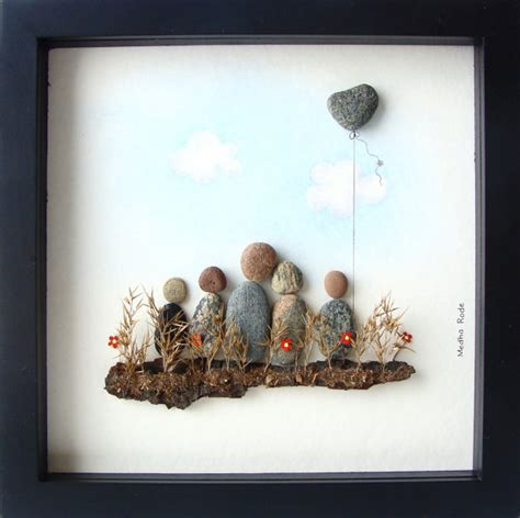 unique gifts home decor pebble family unique family gift family of five gift