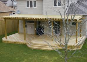 Small Decks With Pergolas by Backyard Decking Ideas
