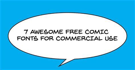 dafont free for commercial use 7 awesome free comic lettering fonts for commercial use