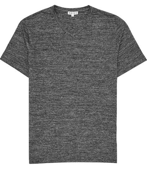 Gray Shirt lyst reiss perri mottled v neck t shirt in gray for