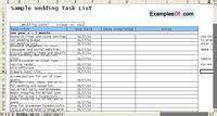 wedding task list excel template exles of weddings templates