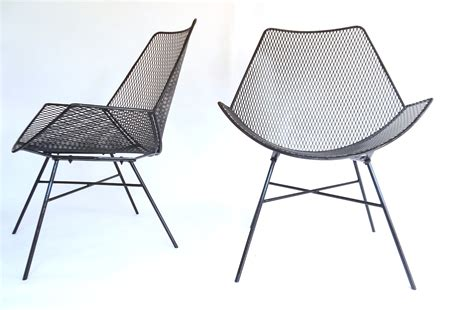 Woodard Outdoor Furniture Vintage - modernist wire metal patio chairs outdoor patio garden chair