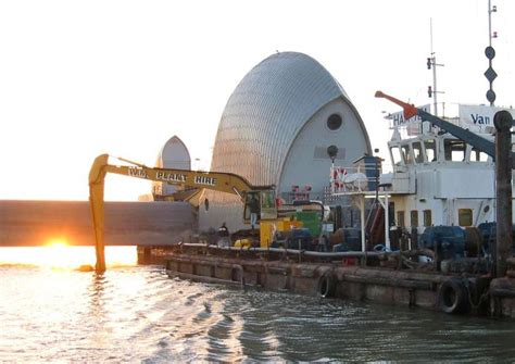 thames barrier venue hire photo thames barrier dredging works dredging today
