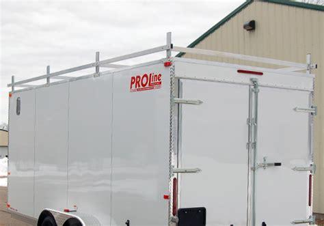 Enclosed Trailer Roof Rack by Proline Options Ladder Racks