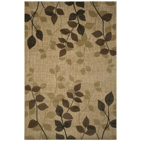 Leaf Pattern Rugs by Coaster Furniture 970037 Leaves Rectangle Leaf