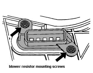 unplug blower motor resistor in my 2001 chevy malibu the fan speed stopped working except for the highest speed how