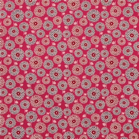 Pattern Canvas Fabric   pink flower blossom pattern canvas fabric from japan