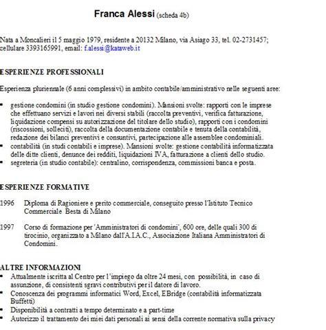 Formato Curriculum Vitae Non Europeo 302 Found