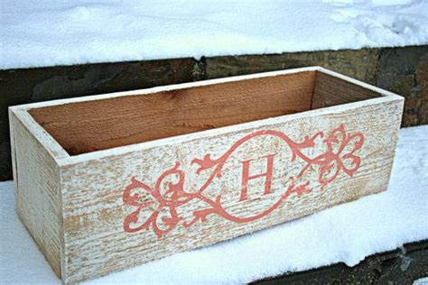 Monogram Planter Box by House Number Monogram Planter Or Window Box