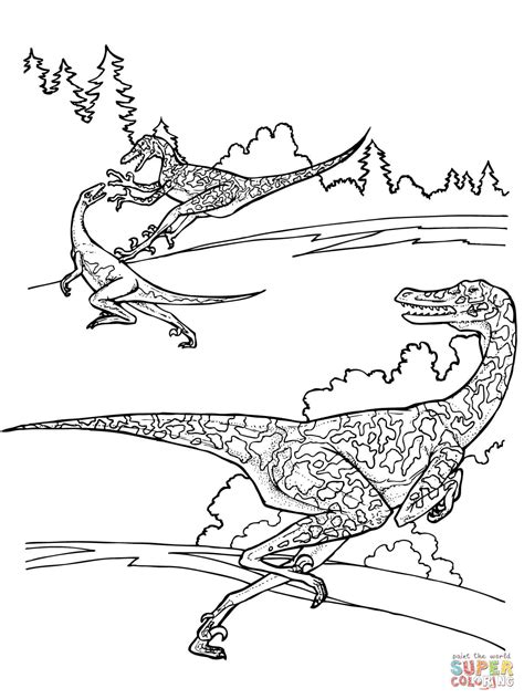 free printable velociraptor coloring pages velociraptor dinosaurs coloring online super coloring