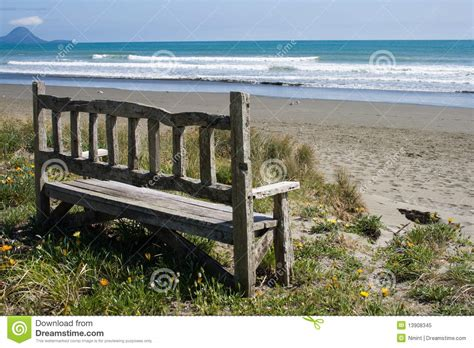 bench on the beach old bench on the beach royalty free stock photo image 13908345