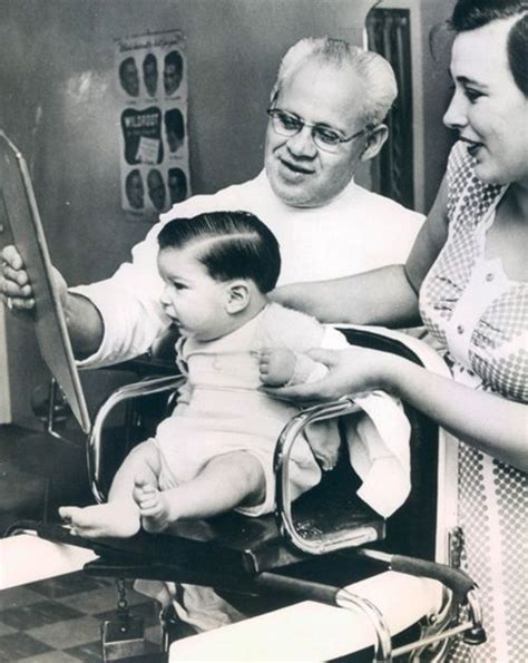 boy haircut retro a handsome little chap getting his first haircut cute