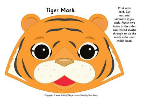 How To Make A Tiger Mask Out Of Paper - image gallery tiger mask